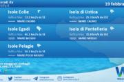 Sicilia, isole minori: condizioni meteo-marine previste per venerdì 19 febbraio 2021