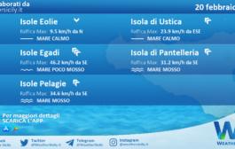 Sicilia, isole minori: condizioni meteo-marine previste per sabato 20 febbraio 2021