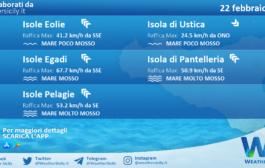 Sicilia, isole minori: condizioni meteo-marine previste per lunedì 22 febbraio 2021