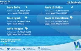 Sicilia, isole minori: condizioni meteo-marine previste per martedì 23 febbraio 2021