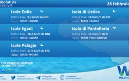 Sicilia, isole minori: condizioni meteo-marine previste per venerdì 26 febbraio 2021