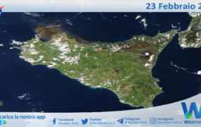 Sicilia: la cenere dell'Etna è arrivata a Palermo!