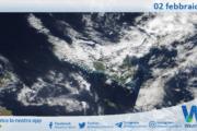 Sicilia: immagine satellitare Nasa di martedì 02 febbraio 2021