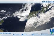 Sicilia: immagine satellitare Nasa di martedì 09 febbraio 2021