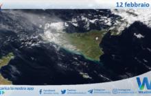 Sicilia: immagine satellitare Nasa di venerdì 12 febbraio 2021