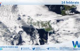 Sicilia: immagine satellitare Nasa di domenica 14 febbraio 2021