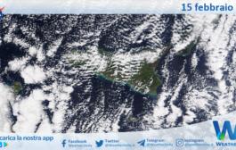 Sicilia: immagine satellitare Nasa di lunedì 15 febbraio 2021