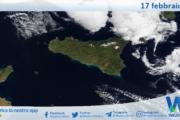 Sicilia: immagine satellitare Nasa di mercoledì 17 febbraio 2021