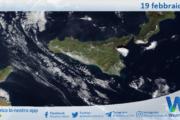 Sicilia: immagine satellitare Nasa di venerdì 19 febbraio 2021