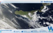 Sicilia: immagine satellitare Nasa di domenica 21 febbraio 2021