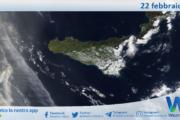 Sicilia: immagine satellitare Nasa di lunedì 22 febbraio 2021