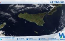 Sicilia: immagine satellitare Nasa di mercoledì 24 febbraio 2021