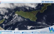 Sicilia: immagine satellitare Nasa di venerdì 26 febbraio 2021
