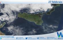 Sicilia: immagine satellitare Nasa di sabato 27 febbraio 2021