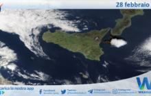 Sicilia: immagine satellitare Nasa di domenica 28 febbraio 2021
