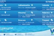 Sicilia: condizioni meteo-marine previste per martedì 02 febbraio 2021