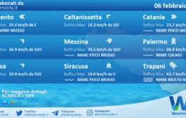Sicilia: condizioni meteo-marine previste per sabato 06 febbraio 2021