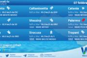 Sicilia: condizioni meteo-marine previste per domenica 07 febbraio 2021