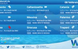 Sicilia: condizioni meteo-marine previste per lunedì 08 febbraio 2021