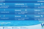 Sicilia: condizioni meteo-marine previste per venerdì 19 febbraio 2021