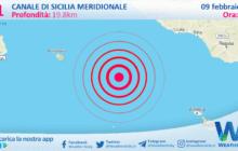 Sicilia: scossa di terremoto magnitudo 3.1 nel Canale di Sicilia meridionale (MARE)