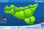 Sicilia: immagine satellitare Nasa di lunedì 08 marzo 2021