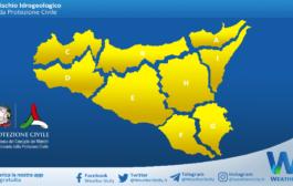 Sicilia: avviso rischio idrogeologico per venerdì 19 marzo 2021