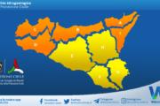 Emessa allerta meteo arancione su Sicilia settentrionale e occidentale per domenica 21 marzo 2021