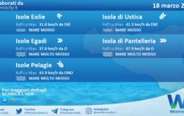 Sicilia, isole minori: condizioni meteo-marine previste per giovedì 18 marzo 2021