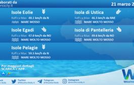 Sicilia, isole minori: condizioni meteo-marine previste per domenica 21 marzo 2021
