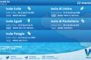Sicilia, isole minori: condizioni meteo-marine previste per lunedì 22 marzo 2021