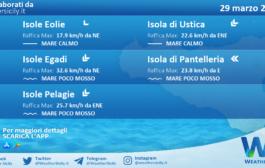 Sicilia, isole minori: condizioni meteo-marine previste per lunedì 29 marzo 2021