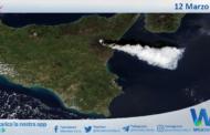 Sicilia: il dodicesimo parossismo dell'Etna ripreso dal Satellite Nasa