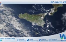 Sicilia: immagine satellitare Nasa di martedì 02 marzo 2021