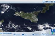 Sicilia: immagine satellitare Nasa di mercoledì 03 marzo 2021