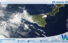Sicilia: immagine satellitare Nasa di giovedì 04 marzo 2021