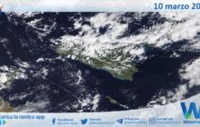 Sicilia: immagine satellitare Nasa di mercoledì 10 marzo 2021