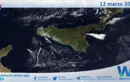 Sicilia: immagine satellitare Nasa di venerdì 12 marzo 2021