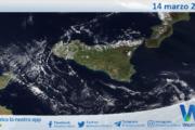 Sicilia: immagine satellitare Nasa di domenica 14 marzo 2021