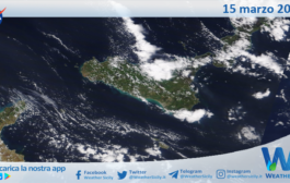 Sicilia: immagine satellitare Nasa di lunedì 15 marzo 2021