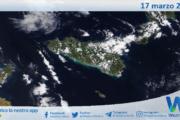 Sicilia: immagine satellitare Nasa di mercoledì 17 marzo 2021