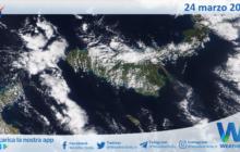 Sicilia: immagine satellitare Nasa di mercoledì 24 marzo 2021