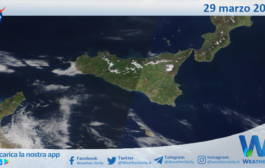 Sicilia: immagine satellitare Nasa di lunedì 29 marzo 2021