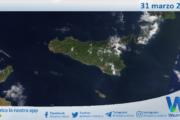 Sicilia: immagine satellitare Nasa di mercoledì 31 marzo 2021