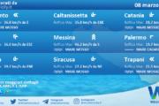 Sicilia: condizioni meteo-marine previste per lunedì 08 marzo 2021