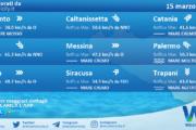 Sicilia: condizioni meteo-marine previste per lunedì 15 marzo 2021