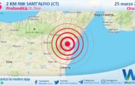 Sicilia: scossa di terremoto magnitudo 2.6 nei pressi di Sant'Alfio (CT)