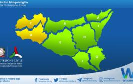 Emessa allerta meteo gialla per Pasquetta su Sicilia occidentale