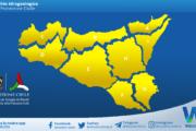 Sicilia: avviso rischio idrogeologico per giovedì 15 aprile 2021