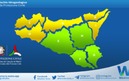 Sicilia: avviso rischio idrogeologico per domenica 18 aprile 2021